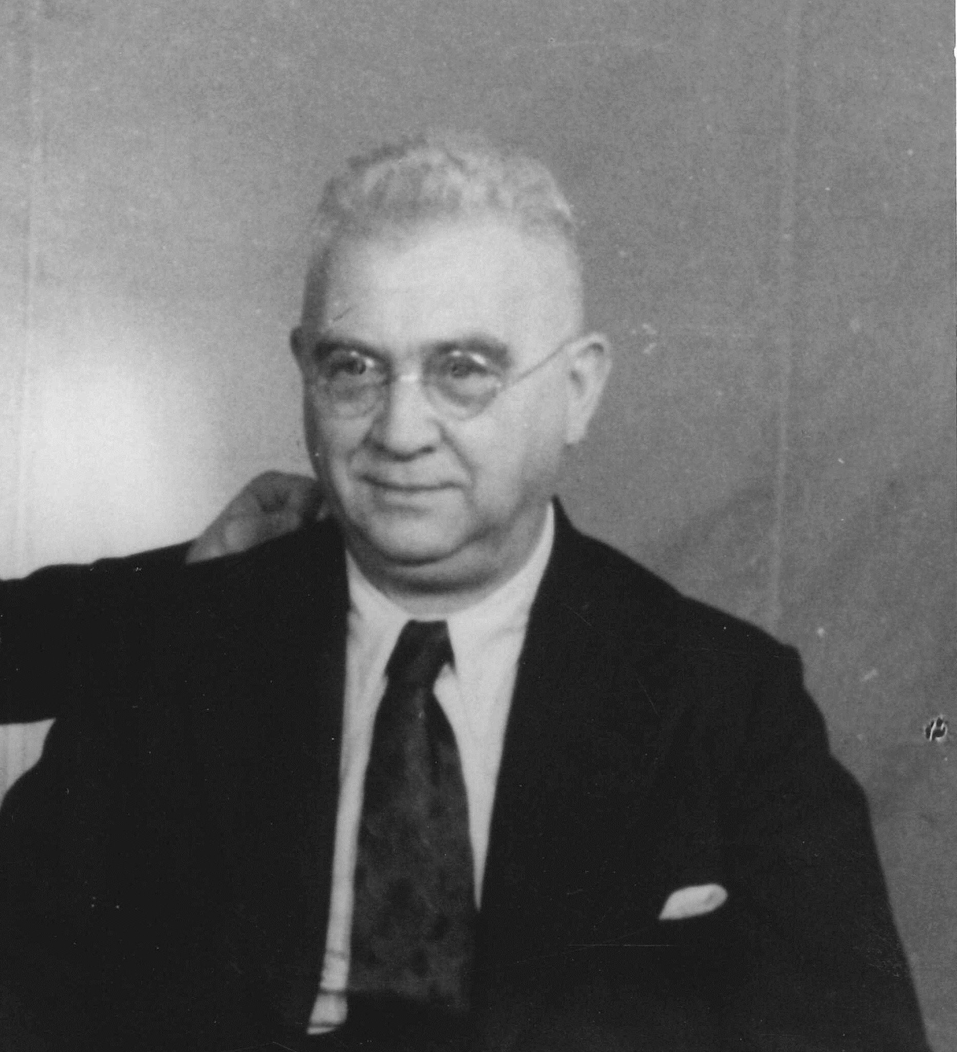 Bürgermeister Peter Klingler, Sozialdemokrat, um 1950