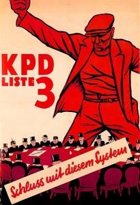 Plakat der KPD von 1932. Mit dem
